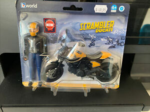 Bruder World Scrambler Ducati Motorbike with Rider