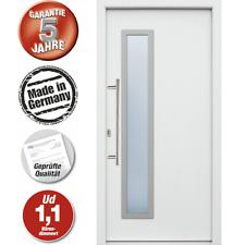 Hochwertige Energiespar Aluminium Haustür  weiß Modell JWC03 NEU 5 J. Garantie