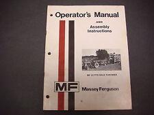 Massey-Ferguson Operators Manual & Assembly Instructions Mf22 Pto Bale Thrower