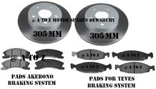 JEEP GRAND CHEROKEE 1999-2004 WG WJ FRONT BRAKE DISCS & PADS 305 MM