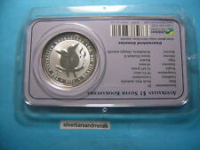 2001 KOOKABURRA AUSTRALIAN 999 SILVER $1 COIN RARE ON SEALED CARD COOL ITEM!!!