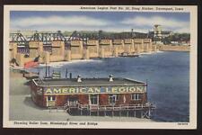 Postcard Snug Harbor Davenport IA American Legion #26