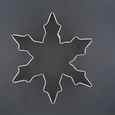 "SNOWFLAKE 5"" METAL COOKIE CUTTER WINTER HOLIDAY BAKING COLD CHRISTMAS FONDANT #1"