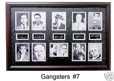 Gangsters Framed Photo Collage Capone Luciano 24x36