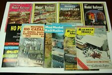 Lot of 10 Model Railroad Magazines Walthers HO Catalog 1973 HO Primer Layouts