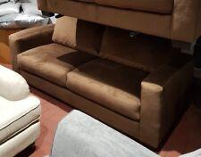 Dante 3 Seater Brown Fabric Sofa