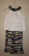 Kelly's Kids Boutique Madras Ruffle Pant Outfit, Size S (5/6)