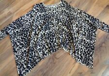 Career Animal Print Short Sleeve Machine Washable Tops & Blouses for Women
