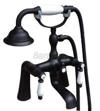 Black Oil Rubbed Brass Bathroom Hand Shower Faucet Set Bath Tub Mixer Tap 8tf504