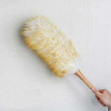 Wood Handle Dust Sweeping Home Cleaning Lambswool Duster Furniture Hanging Rope