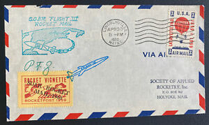 1960 Lincolnville ME USA Soar Rocket Third Flight Airmail Cover To Holyoke