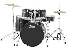 Pearl Roadshow 5 Piece Drum Set With Hardware & Cymbals - Jet Black - RS525SC/C3