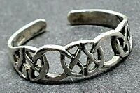 Toe Ring Celtic Knot Sterling 925 Silver Adjustable Celtic Open Knot Bohemian