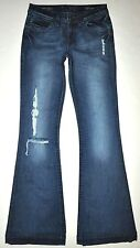 DL1961 Joy High Rise Factory Distressed Revolt Flare Jeans 25 X 31 1/4 Stretch