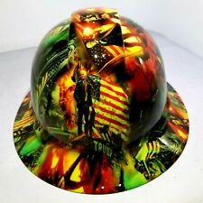 Hard Hat Full Brim Custom hydro dipped DONALD TRUMP ZOMBIE NEON MAGA best price