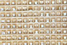 12 SWAROVSKI CRYSTAL - GOLDEN SHADOW  6mm Loose BEADS 5601 CUBES, Bridal/Wedding