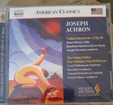 Joseph Achron: Violin Concerto No. 1, Op. 60; Golem (Suite); Two Tableaux from …