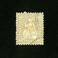 Switzerland Stamps # 66 F-VF Used Catalog Value $3,875.00