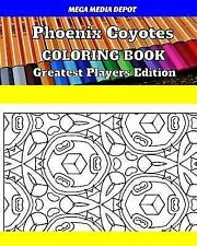Phoenix Coyotes Coloring Book Greatest Players Edition by Mega Depot (2017,.