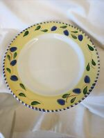 "Palermo by Pier 1 DINNER PLATE 10 1/8""leaf Pattern Small Chip On Back Side Rim"