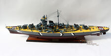 "Quality Handcrafted Bismarck 39"" Wooden Warship Display Model"