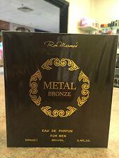 Metal Bronze Ron Marone's Men Cologne EDP Spray 3.4 oz / 100 ml NIB Sealed