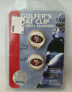 San Francisco🏈49ers GOLF HAT CLIPS Ball Markers Football NFL Logo New