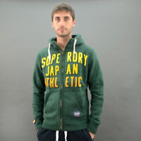 SuperDry FELPA CAPPUCCIO CORE APPLIQUE ZIP Verde Scuro mod. MS2JP285F1-GRJ