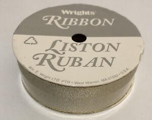 Wrights Ribbon Liston Ruban Vintage Gold 8ft 2.4M 22.2 MM