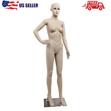 """69"""" Female Mannequin Full Body Pp Realistic Display Head Turns Dress Form + Base"""