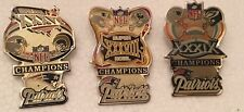 SET OF 3 NEW ENGLAND PATRIOTS SUPER BOWL CHAMPIONS MEDIUM PINS SUPER BOWL 5