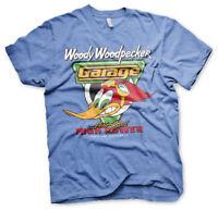 Woody Woodpecker Hot Rod Garage High Power Werkstatt Männer Men T-Shirt Blau