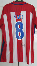 Signed SAUL NIGUEZ Atletico Madrid 2016/17 home Shirt W/ Exact Proof! SPAIN
