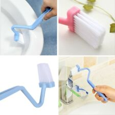Toilet Rim Edge Brush Bow Curved Flush Passage Brush Bathroom Cleaning Supplies