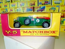 Matchbox/Lesney MOY Modellauto No.Y-5 1929 4,5 Litre S Bentley 1962-70 mit OVP