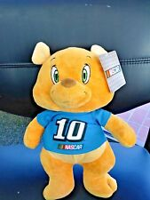 """NASCAR Kelly Toy Stewart Haas Racing NUMBER 10 Stuffed 13"""" Bear New with Tags"""