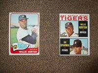 1964 TOPPS BASEBALL WILLIE HORTON RC #512 & 1965 card #206 2nd YEAR, VG/VG-EX