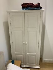 White Vintage Wooden Wardrobe Can Be Upcycled Double Door