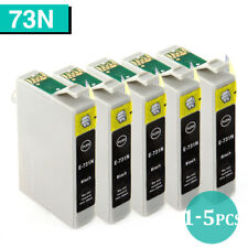 1-5 Ink Cartridges for Epson 73N Black Only TX100 TX110 TX200 TX210 TX400 NonOEM
