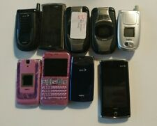 Lot of 10 Sanyo Flip | Vintage | Cell | Smart phones For parts | Sanyo Phones