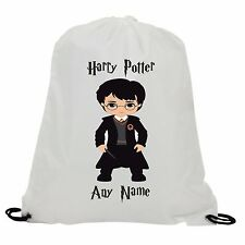 PERSONALISED HARRY POTTER  IN UNIFORM SUBLIMATION GYM SWIMMING PE DRAWSTRING BAG