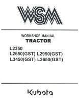 KUBOTA TRACTOR L2350 L2650 L2950 L3450 L3650 (GST) 02 WORKSHOP MANUAL REPRINTED