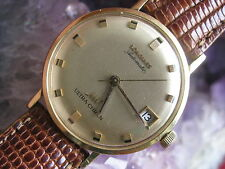 Longines Ultra-Chron Vintage 18K Gold Automatic Wrist Watch, High-Beat Movement
