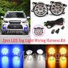 L+R LED Fog Light Lamps Wire Harness Kits For Mitsubishi ASX Triton Pajero Sport