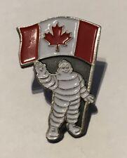A SAISIR TRES RARE PIN'S PIN MICHELIN BIBENDUM @ DRAPEAU DU CANADA @ INTROUVABLE