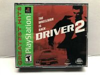 Driver 2 (Sony PlayStation 1, 2000) Greatest Hits - Complete w/ Manual Tested