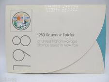 United Nations UN Souvenir Stamp Folder - 1980, New York, MNH Scott 316 | 342