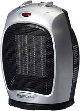 Ceramic Space Heater with Adjustable Thermostat - Silver