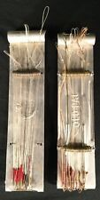 Vtg Old Pal Fish Hook Metal Holder Fishing Equipment Snell Lot Of 2