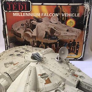 Vintage 1980s Kenner Star Wars Figure Vehicle Millennium Falcon Ship ROTJ Boxed